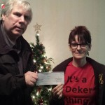A donation given to the foundation from the Kinsmen Club